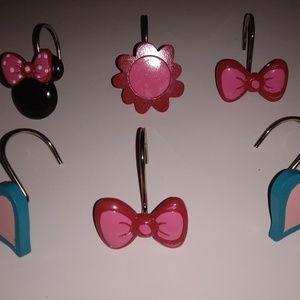 Disney shower curtain hooks